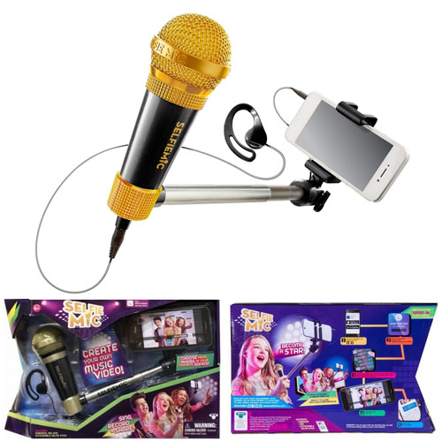 SELFIE-Mic-Music-Set-in-Black-Gold Toy Review