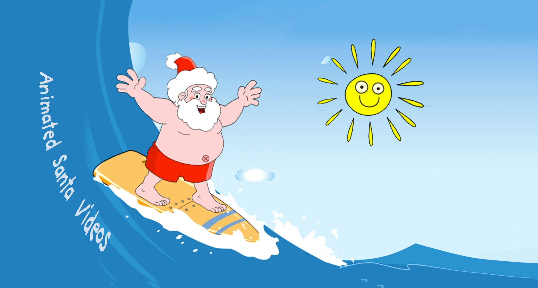 Santa.net Santa Claus Surfing Animation