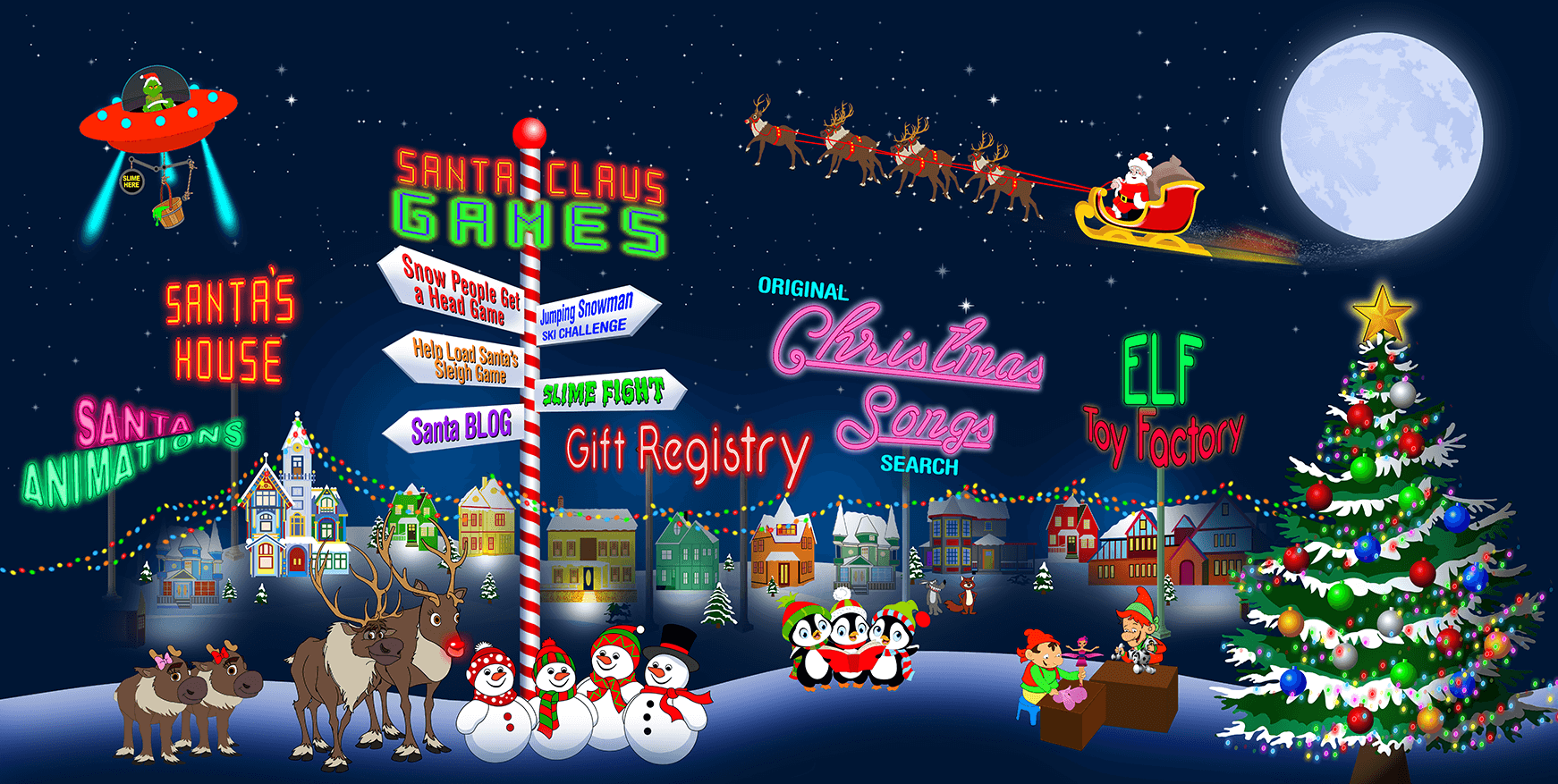 Santa.net: Santa Claus Family Website for kids from 1 to 92!